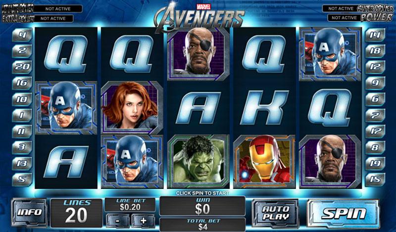 Avengers Slots Online Amaya