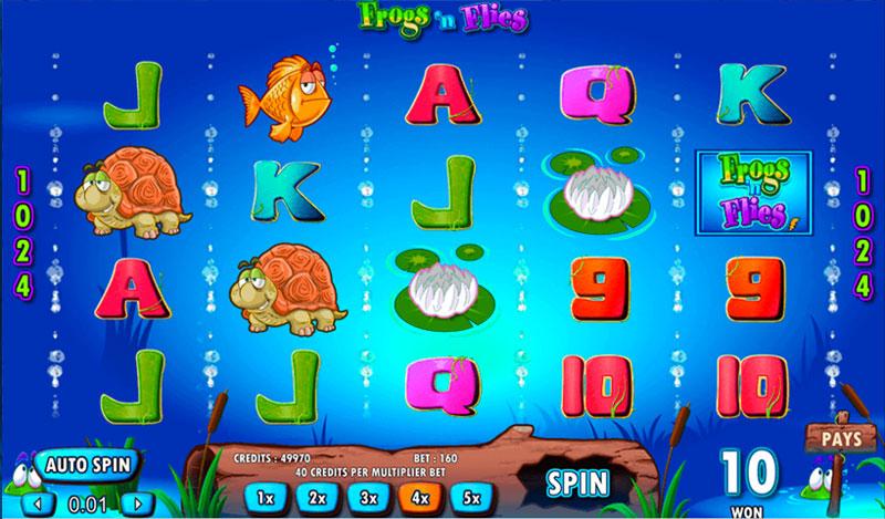 Frogs'n-Flies Game Online