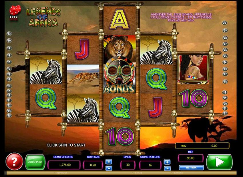 Legends-of-Africa Slots Online